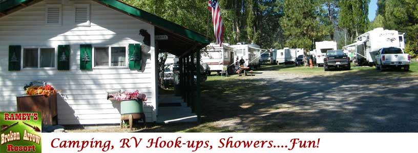 Idaho Campgrounds at Broken Arrow in Gibbonsville Idaho