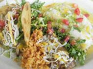 Taco Combination Mexican Food at Broken Arrow Restaurant